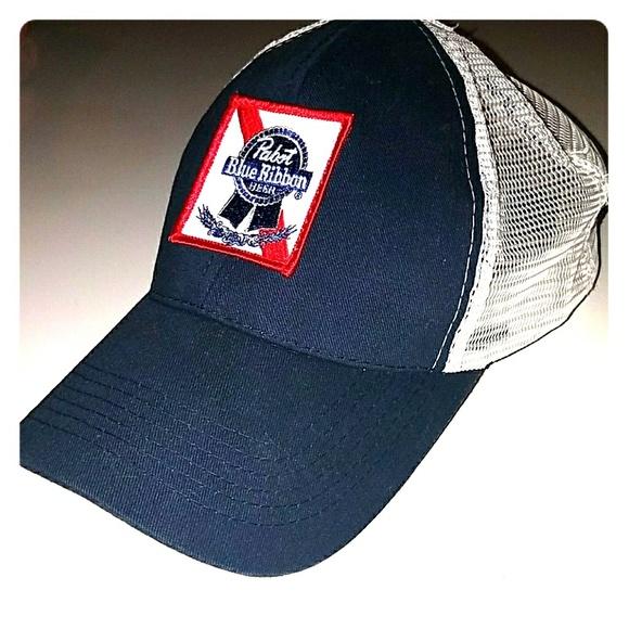 Pabst Blue Ribbon Trucker Hat. M 5ac6b40a84b5ce17269cda1e 92fd837a8b8